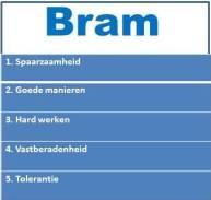 Belangrijke opvoedwaarden Bram