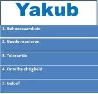Belangrijke opvoedwaarden Yakub