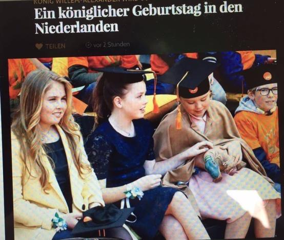 Prinsesjes Amalia, Ariane en Alexia Tilburg University Duitse website