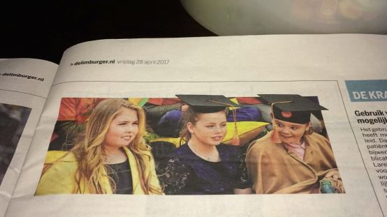 Prinsesjes Amalia, Ariane en Alexia Tilburg University Junior de Limburger